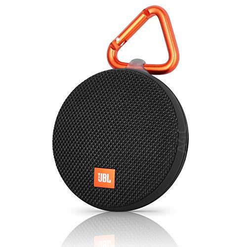 JBL Clip 2 Waterproof Portable Rechargeable Bluetooth Wireless Speaker with Mic, Black Renewed