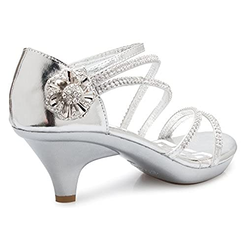 ca780c83563 85%OFF OLIVIA K Women s Open Toe Strappy Rhinestone Dress Sandal Low Heel  Wedding Shoes