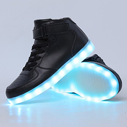 d03b5cd3d616 CIOR High Top Led Light Up Shoes 11 Colors Flashing Rechargeable Sneakers  for Mens Womens Girls