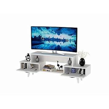 Blanc 50 Cm L 140 X H Minar By Home Mania Meuble Tv Design