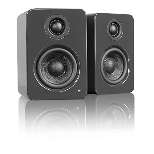 "Kanto YU2 3"" 2-Way Powered Desktop Speakers (Pair) Gloss Gray YU2GG"