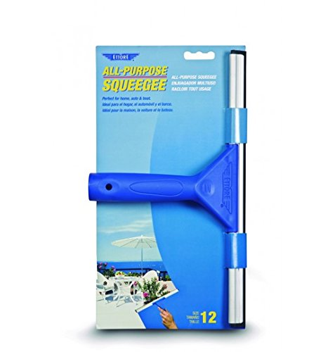 Ettore 17012 All-Purpose Squeegee, 12-Inch, Blue