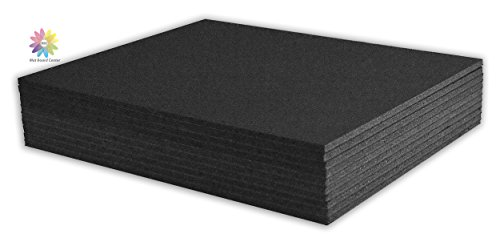 "Mat Board Center, Pack of 10 3/16"" BLACK Foam Core Backing Boards (8x10, Black)"