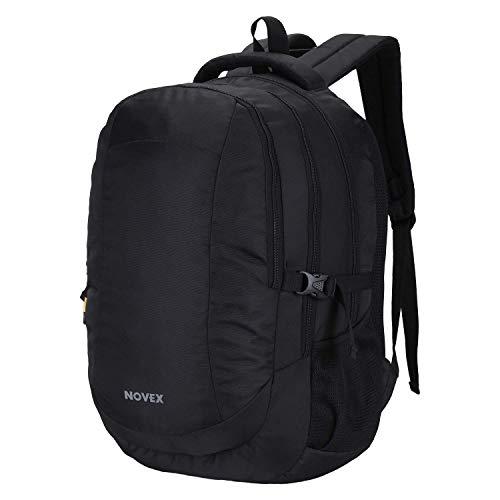 Novex Polyester, Water Resistant Laptop Backpack  Black