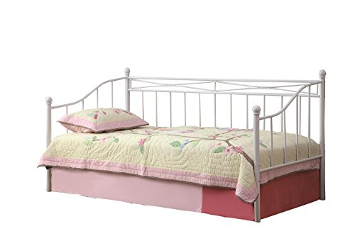 Coaster Fine Furniture 300109 Barandal para Cama Individual de Metal, Color Blanco