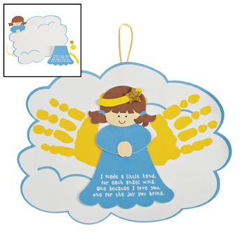 angel handprints poem ornament craft kit religious crafts crafts for kids