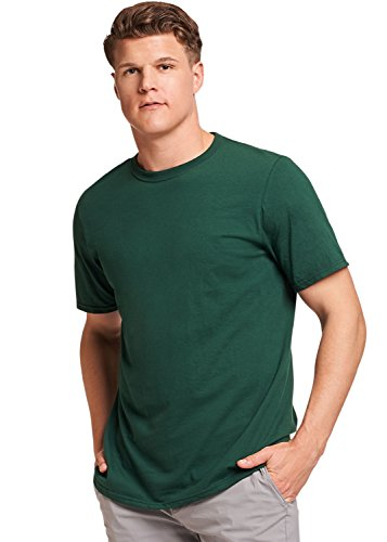 (Russell Athletic Men's Basic Cotton T-Shirt, Dark Green, XL )