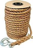 3/4'' x 100ft Manila Hoist Rope with Snap Hook