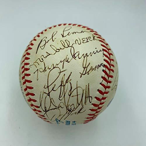 Jimmy Dudley Bob Feller Cleveland Indians Legends Signed Baseball 26 Sigs JSA