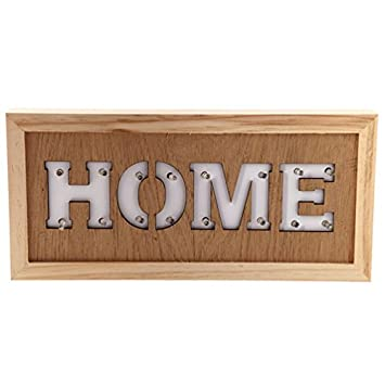 Amazon De Home Led Wanddeko Aus Holz Mit 14 Leds 14 X 30 Cm