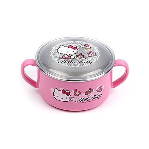 Lock & Lock Hello Kitty Baby Lace children Stainless steel bowl with Handle and Lid LKT481