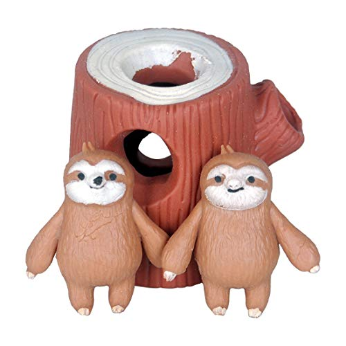 (WEY&FLY Sloth Hide and Seek Toy Stress Relief Toy Latex Toy Safety Certification)