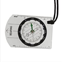 Outdoor Hiking Camping Baseplate Compass Map Measure Ruler Tool