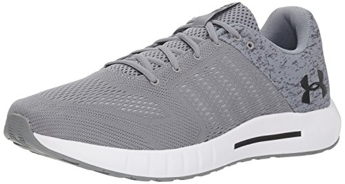 Under Armour Men's Micro G Pursuit Graphic Running Shoe, Steel (102)/White, 14