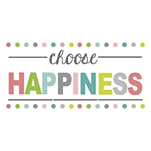 Amazon.com: Wall Pops WPE1178 Choose Happiness Quote Decal ...