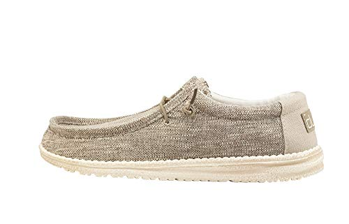 (Hey Dude Men's Wally Woven Beige, Size 15)