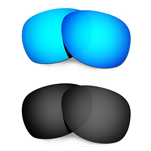 Hkuco Mens Replacement Lenses For Ray-Ban Wayfarer RB2132 55mm Sunglasses Blue/Black - Rb2132 Polarized Replacement Lenses