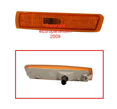 (BMW Z3 M3 E36 USA Type OEM Genuine Front Bumper Side Marker Light 1996-2003 LEFT)