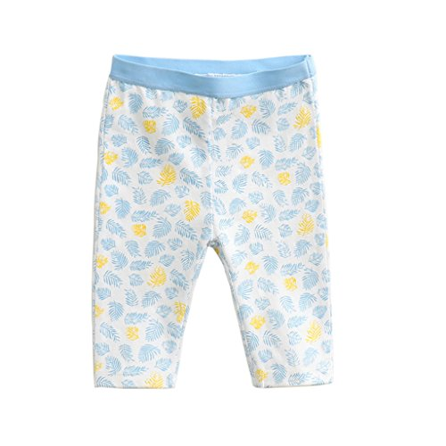 marc janie Baby Toddler Girls' Print Capri Pants Blue Floral 6-7 Years - Floral Kids Capris