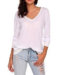 Women Sexy See Through Long Sleeve Cotton Top Blouses Yoga Tee Shirts
