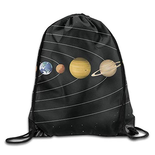 Drawstring Backpack Gym Bag Travel Backpack Planets Life Orig Gym Equipment Backpack for Women Men Adults Mothers Day 16.9x14.2