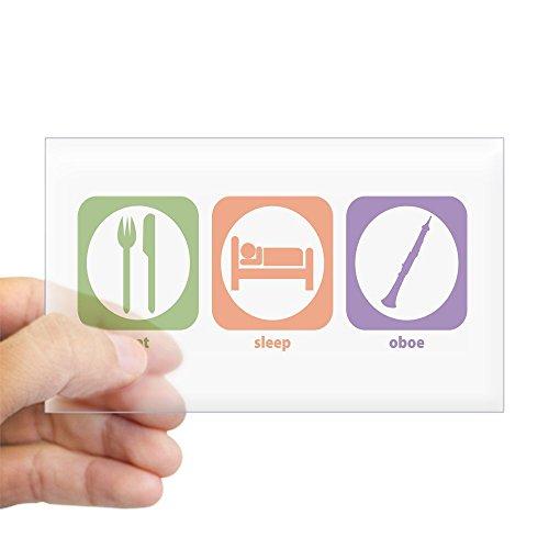 CafePress - Eat Sleep Oboe Rectangle Sticker - Rectangle Bumper Sticker Car Decal