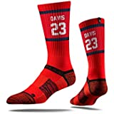 NBA New Orleans Pelicans Strideline Player Crew Socks , Anthony Davis , Anthony Davis