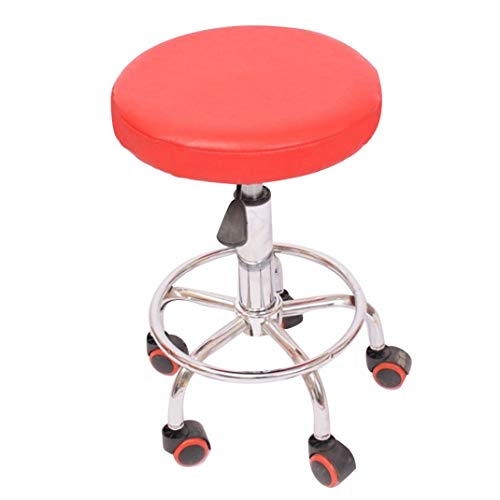 - WEEFORT 1Pc Round Bar Stool Cover Elastic Removable Waterproof Slipcover Smooth Easy Clean Stain Resistant Seat Case