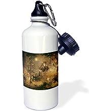 "3dRose wb_126218_1 ""A Midsummer Nights Dream John Lamb 1834 Fairy Painting"" Sports Water Bottle, 21 oz, White"