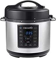 Crock-Pot 6 Qt 8-in-1 Multi-Use Express Crock Programmable Slow Cooker, Pressure Cooker, Sauté, and Steamer, Stainless Steel (SCCPPC600-V1)
