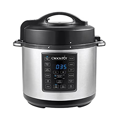 Amazon.com: Crock-Pot 6 Qt 8-in-1 Multi-Use Express Crock Programmable Slow Cooker, Pressure Cooker, Sauté, and Steamer, Stainless Steel (SCCPPC600-V1): Kitchen & Dining