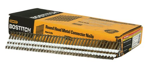 (BOSTITCH RH-MC14815G-S Thickcoat Round Head 1-1/2-Inch-by-.148-Inch-by-21-Degree Plastic Collated Metal Connector Nail (1,000 per Box))