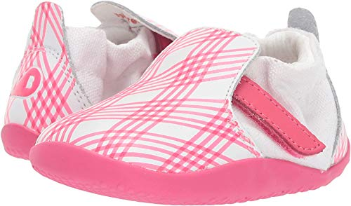 Bobux Kids Baby Girl's Step Up Xplorer Aktiv Gingham (Infant/Toddler) Pink/White 21 M EU