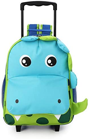Toddler Backpack Rolling Suitcase Dinosaur product image