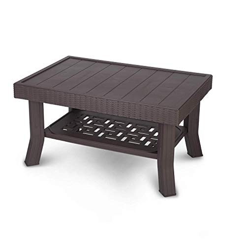 Supreme Vegas Center Plastic Table for Home, Office & Outdoor (Wenge)