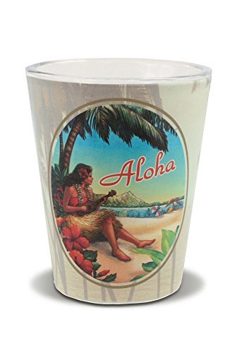 Vintage Hawai'i Short Shot Glass (Hawaii Glass)