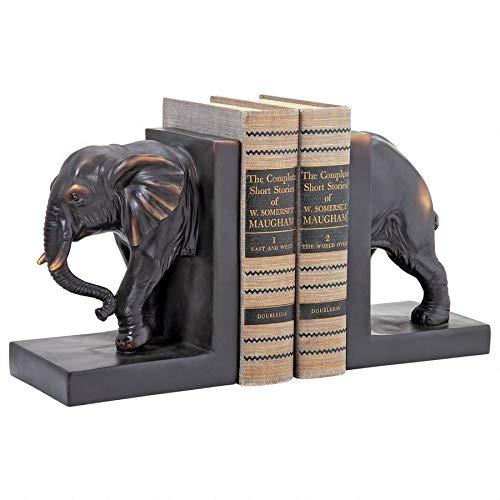 Design Toscano Elephant Sculptural Bookend Pair, 7.5