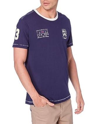 CLK Polo - Camiseta College Lisa De Manga Corta Color Azul Marino ...