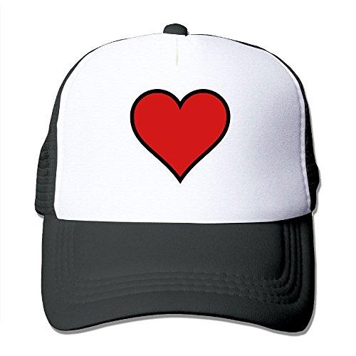 Bordered Hearts (Jia De Ba Funny Bordered Heart Love Love Hat,Popular Hat,Black Hat Adult Trucker Cap Baseball Dad Mesh Hat Black)