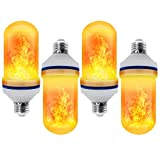 CPPSLEE - LED Flame Effect Light Bulb - 4 Modes with Upside Down Effect - E26 Base LED Bulb - Flame Bulbs for Halloween Decorations /Hotel/Bar/Christmas Party Decoration (4 Pack )