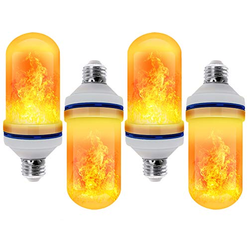 CPPSLEE - LED Flame Effect Light Bulb - 4 Modes with Upside Down Effect - E26 Base LED Bulb - Flame Bulbs for Christmas Home/Hotel/Bar Party Decoration (4 Pack)]()