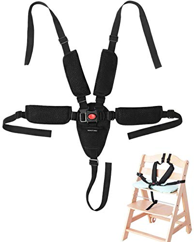 Universal 5 Point Harness Baby Seat Belt Adjustable Baby Safety Strap for Stroller High Chair Kids Safe Protection