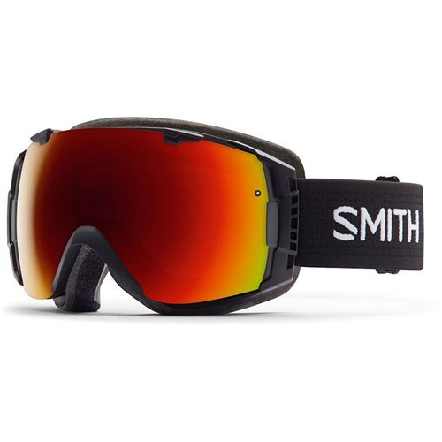 Smith Optics I/O Adult Interchangable Series Snocross Snowmobile Goggles Eyewear - Black/Red Sol X Mirror / Medium by Smith Optics