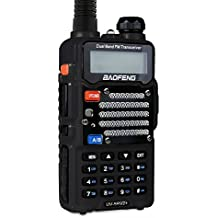 Baofeng Black UV-5R V2+ Plus (USA Warranty) Dual-Band 145-155/400-480 MHz FM Ham Two-way Radio, Improved Stronger Case, Enhanced Features