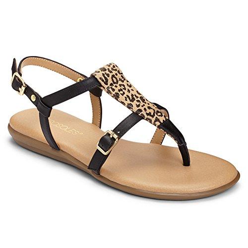 Aerosoles Women's Obstachle Course Gladiator Sandal, Leopard Combo, 7 M (Leopard Print Thong Sandal)