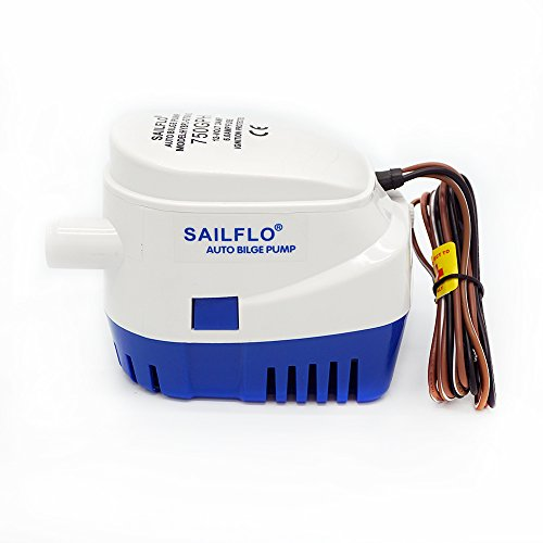 ECO-WORTHY Automatic Submersible Boat Bilge Water Pump 12v 750gph Auto Float Switch 3 Amp Draw Ponds,Pools, Spas Silent