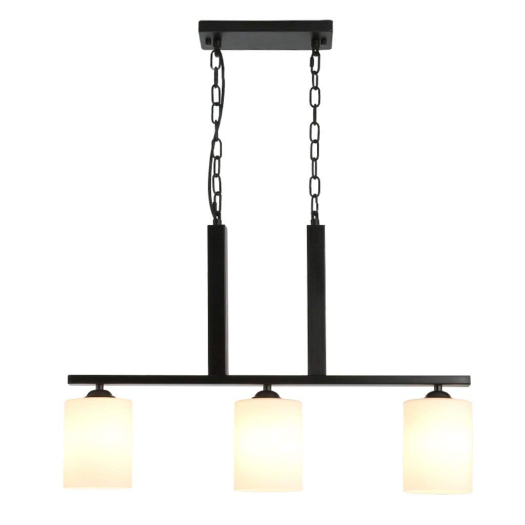 TJZY Novely Chandeliers-Chandelier Made of Iron and Glass American Style Living Room Restaurant Bar Cafe Pendant Light E273 Black, Creative Decorative Lighting