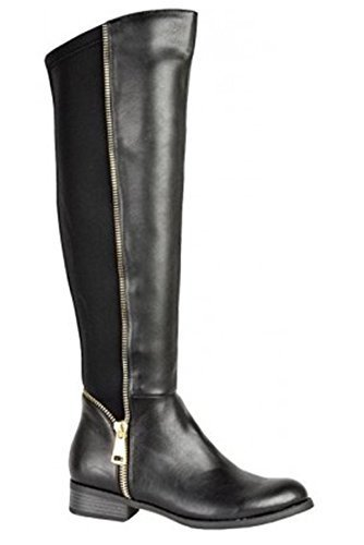 Negro Sapphire Mujer Botas By Para Boutique 4xgX4Z