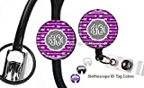 Personalized Monogrammed Arrows Design Retractable Badge Reel Badge Holder and Stethoscope ID Name Tag Set Nurse Doctor LPN RN