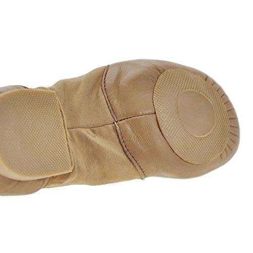 Starlite Tan Hyper facile à enfiler 11s de chaussures en cuir de Jazz